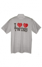 I Heart Twins Mens T-Shirt