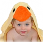 Yellow Duck Hooded Towel