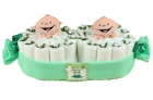 Twin Peas Diaper Cake