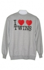 I Heart Twins Mens Sweatshirt