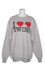 I Heart Twins Womens Sweatshirt