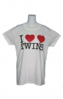 I Heart Twins Womens T-Shirt