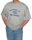 Property of My Twins Mens T-Shirt