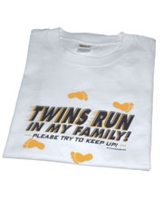 Twins Run in My Family Mens T-Shirt